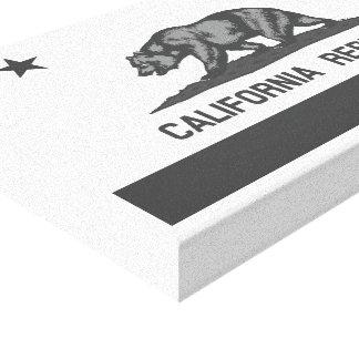 Bandera blanco y negro de la república de Californ Impresión En Lona Estirada