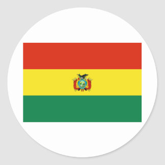 Bandera BO de Bolivia Pegatinas Redondas