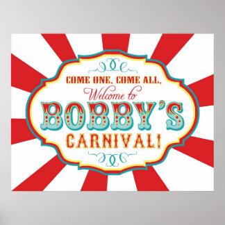 Bandera Bobby de la recepción y del cumpleaños del Poster