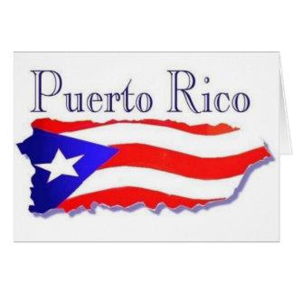 Bandera Boricua de Puerto Rico Tarjeta De Felicitación