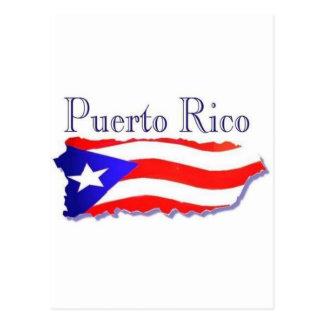 Bandera Boricua de Puerto Rico Tarjeta Postal