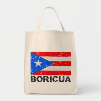 Bandera Boricua del vintage de Puerto Rico Bolsa Tela Para La Compra
