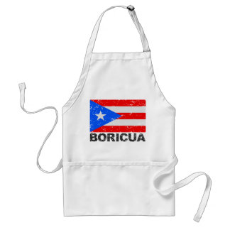 Bandera Boricua del vintage de Puerto Rico Delantal