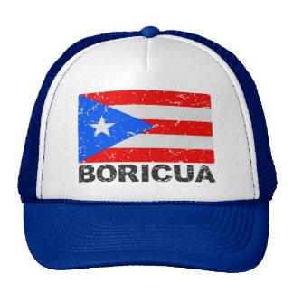 Bandera Boricua del vintage de Puerto Rico Gorra
