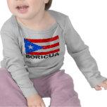 Bandera Boricua del vintage de Puerto Rico Camiseta