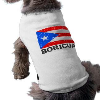 Bandera Boricua del vintage de Puerto Rico Playera Sin Mangas Para Perro