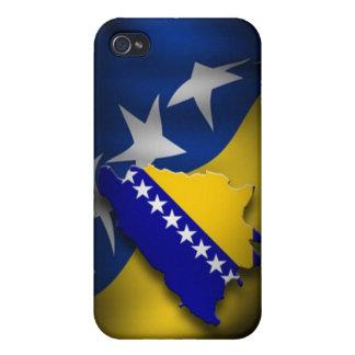 Bandera bosnio iPhone 4/4S carcasa