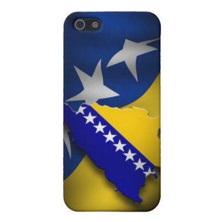 Bandera bosnio iPhone 5 carcasas