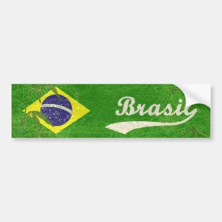 Bandera brasileña pegatina de parachoque