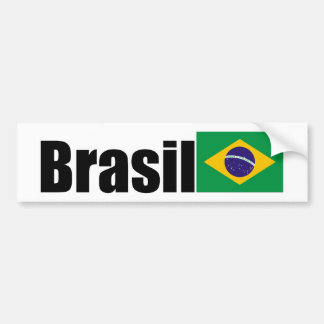 Bandera brasileña etiqueta de parachoque