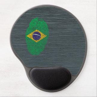 Bandera brasileña de la huella dactilar del tacto alfombrilla gel