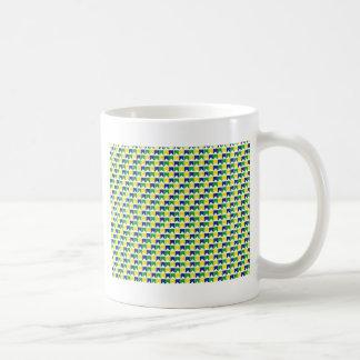 Bandera brasileña de los colores taza de café