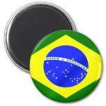 Bandera brasileña de los regalos y de las camiseta imán para frigorifico