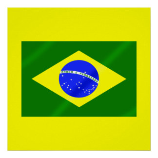 Bandera brasileña de los regalos y de las camiseta impresiones