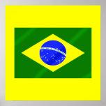 Bandera brasileña de los regalos y de las camiseta póster
