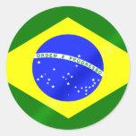Bandera brasileña de los regalos y de las etiquetas redondas