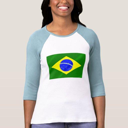Bandera brasileña de los regalos y de las remera