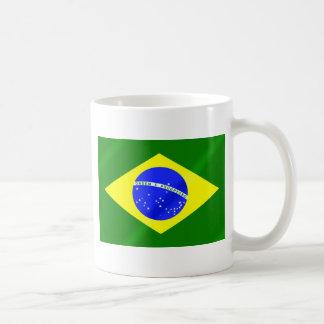 Bandera brasileña de los regalos y de las taza clásica