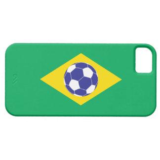 Bandera brasileña del fútbol iPhone 5 Case-Mate carcasa