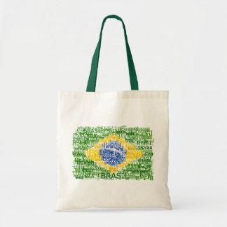 Bandera brasileña - el Brasil textual Bolsa Tela Barata