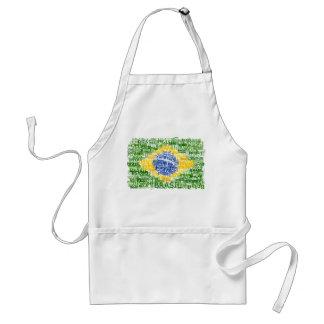 Bandera brasileña - el Brasil textual Delantal