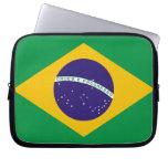 Bandera brasileña funda computadora