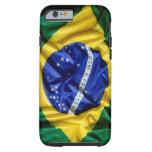 Bandera brasileña funda de iPhone 6 tough