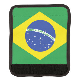 Bandera brasileña funda para asa de maleta