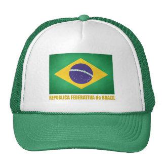Bandera brasileña gorros bordados