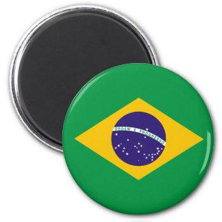 Bandera brasileña imán de frigorifico
