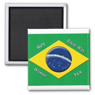 Bandera brasileña imanes para frigoríficos