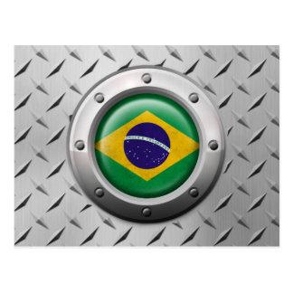 Bandera brasileña industrial con el gráfico de ace