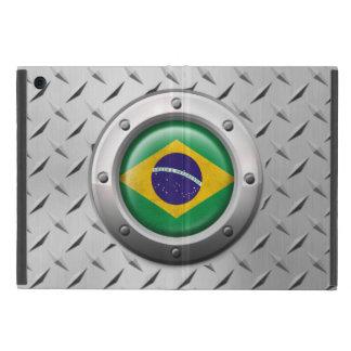 Bandera brasileña industrial con el gráfico de iPad mini cárcasa