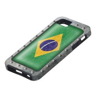 Bandera brasileña industrial funda para iPhone SE/5/5s