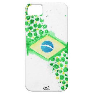 Bandera brasileña iPhone 5 carcasas