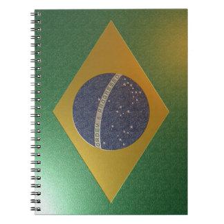 Bandera brasileña libreta espiral