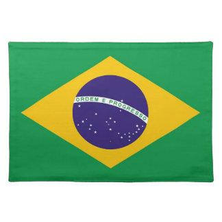 Bandera brasileña MoJo Placemat Manteles Individuales