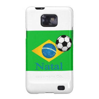 Bandera brasileña natal galaxy SII carcasas