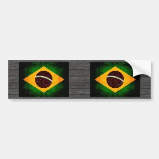 Bandera brasileña nerviosa moderna pegatina para auto