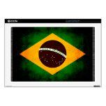 Bandera brasileña nerviosa moderna 43,2cm portátil calcomanías
