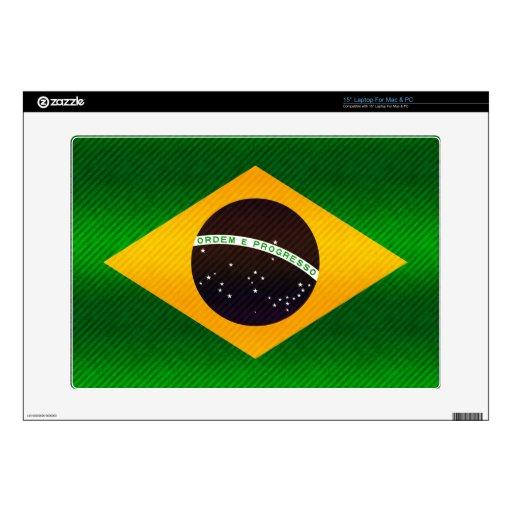 Bandera brasileña pelada moderna portátil 38,1cm skins
