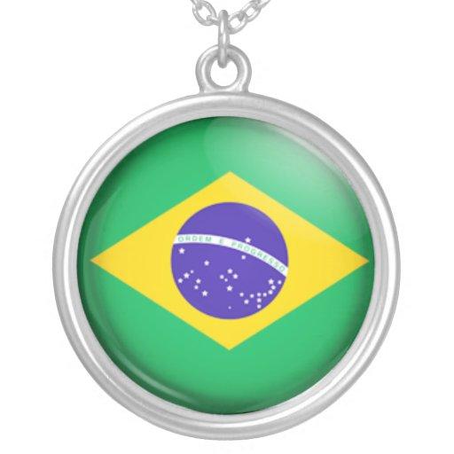 Bandera brasileña pendientes personalizados