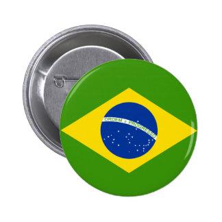 Bandera brasileña pin redondo de 2 pulgadas