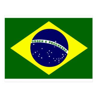 Bandera brasileña postales