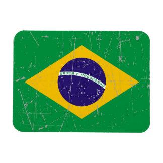 Bandera brasileña rascada y rasguñada imán flexible