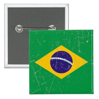 Bandera brasileña rascada y rasguñada pins
