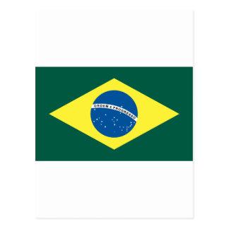 Bandera brasileña tarjeta postal