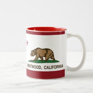 Bandera Brentwood del estado de California Taza De Café De Dos Colores