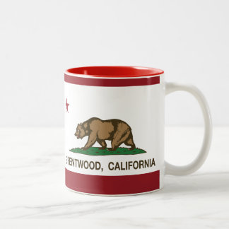 Bandera Brentwood del estado de California Taza De Dos Tonos