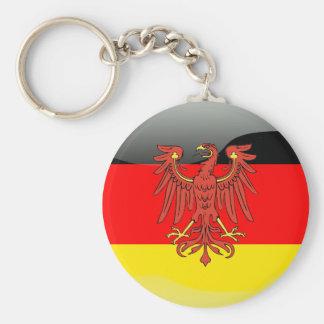 Bandera brillante de Alemania Llavero Redondo Tipo Pin